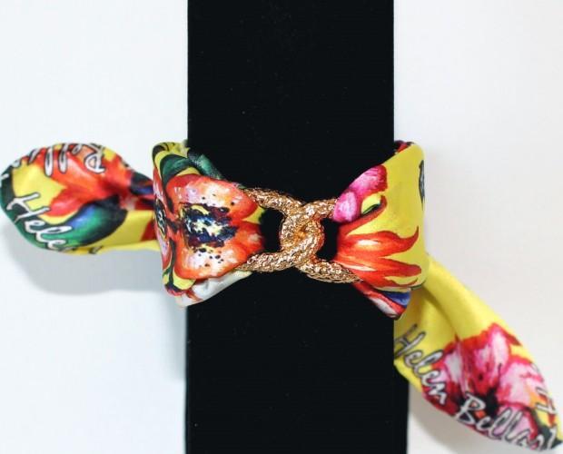 Pulseras de seda. Pulseras y complementos de moda primavera - verano diseñados por Helen Bellart