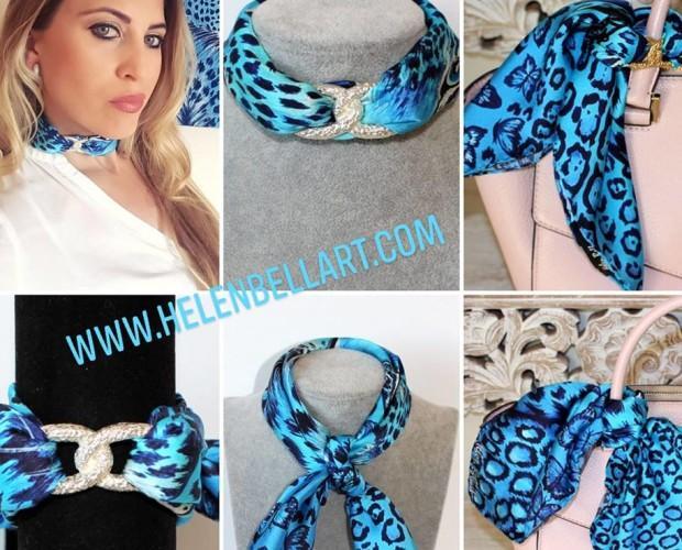 Complementos de seda. Exclusiva colección de accesorios de seda de la marca Helen Bellart con diseños únicos hechos todos a mano en España.