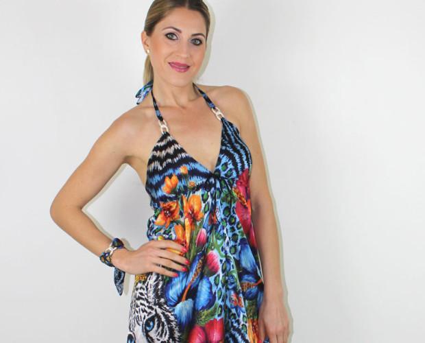 Vestidos de mujer. Alta costura, vestidos de seda diseñados Helen Bellart