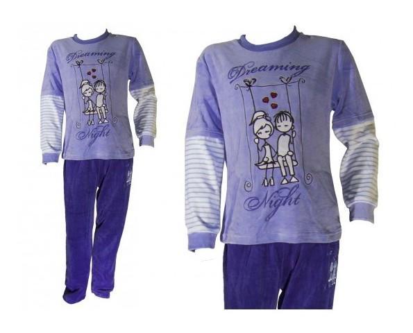 Pijamas Infantiles.Terciopelo mangas largas