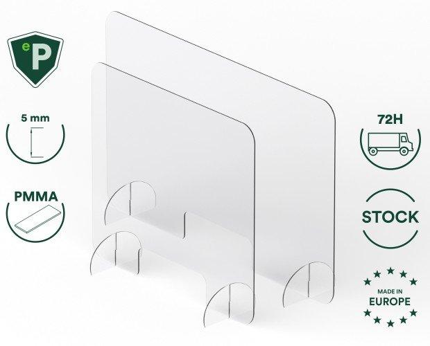 Materiales de Protección.Mampara de protección de metacrilato de 5 mm. Óptima para la separación de espacios.