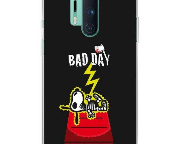 Funda Silicona Bad Day Ray. Su forma se ajusta perfectamente al OnePlus 8 Pro