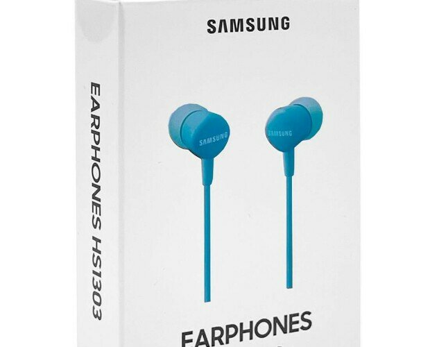 Auriculares azul. Consiguen un sonido de calidad rico en matices y se ajustan perfectamente.