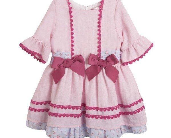 Vestido de fiesta. Vestido color rosa