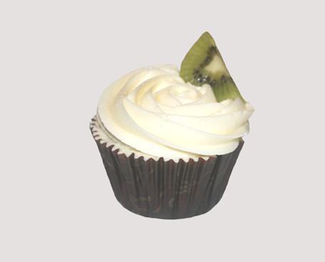 Repostería Creativa. Cupcakes. Chocolate, crema de queso y kiwi
