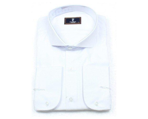 Raúl. Camisa de vestir modelo RAUL, Tallas: S a 2KL, 80% Algodon 20% Poliester, Semi entallada