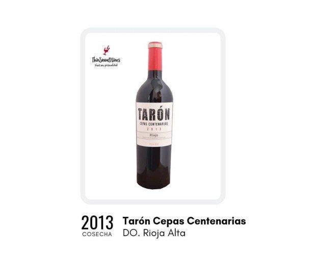 Tarón Cepas Centenarias. Vino de color cereza, borde granate, buena capa