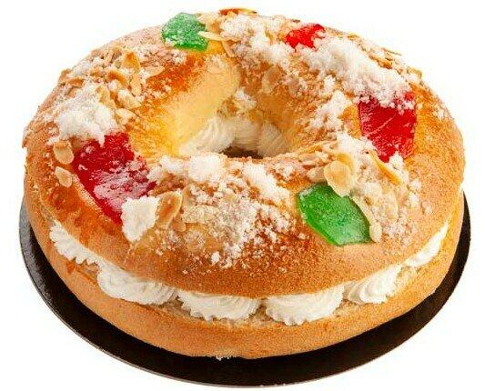 Roscón de Reyes. Tiernos y esponjosos,elaborados con mantequilla y nata pura.