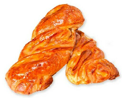 Trenza De Yema Y Nueces. Trenza hojaldrada con interior de yema pastelera con nueces.