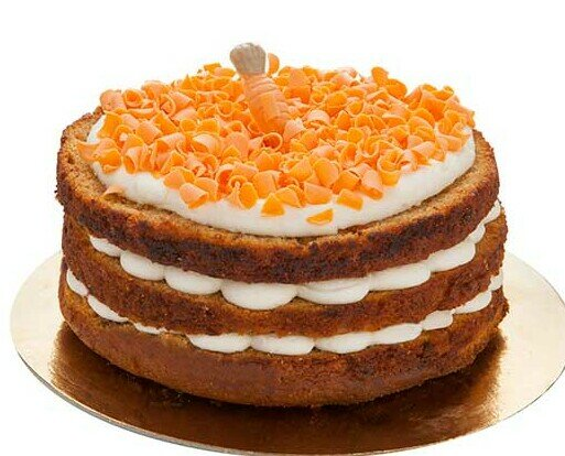 Tarta Zanahoria. Tarta de bizcocho de zanahoria frosting de queso virutas de chocolate a lla naranja
