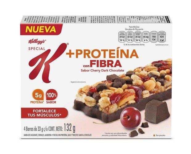 Barra de cereal. Proteínas y fibras. Solicita vending saludable