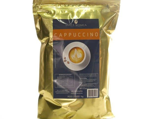 Cappuccino. Calienta 100 ml de leche. En una taza grande o taza, añadir 30g de cappuccino