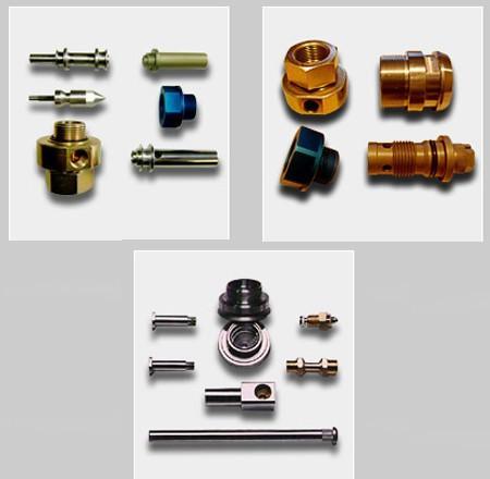 Decoletaje.Ejemplo de piezas mecanizadas por decoletaje