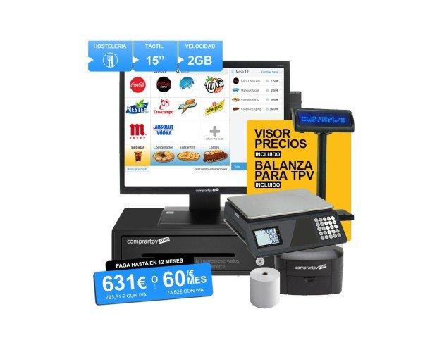 TPV Modular. TPV para tiendas y comercios de alimentación con lector y balanza homologada con conexión para TPV.