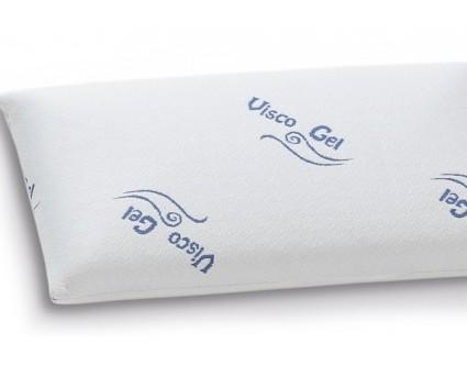 Almohada visco gel. Núcleo cubierto con una capa de gel