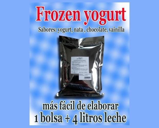 Hoja volandera yogurt en polvo. Fácil preparación de yogur helado