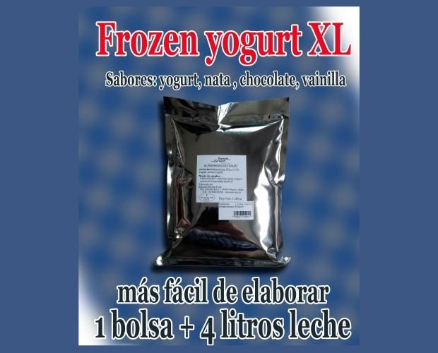 Frozen yogur XL. Hoja volandera yogurt en polvo