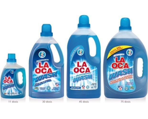 La Oca Wash. Detergente líquido de espuma controlada y gran potencia de limpieza