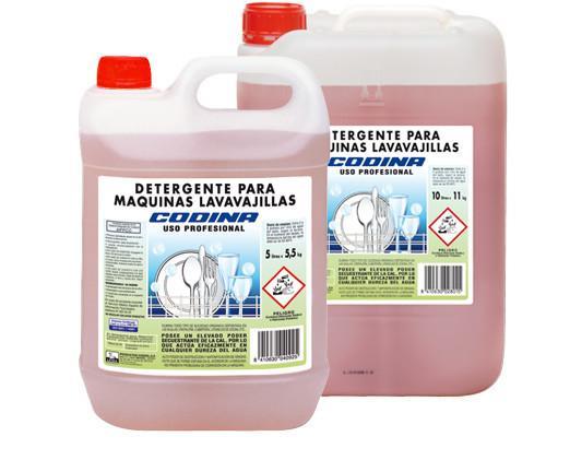 Lavavajillas Codinajpg. Elimina todo tipo de suciedad orgánica depositada en las vajillas, cristalería, cubertería, utensilios de cocina, etc.