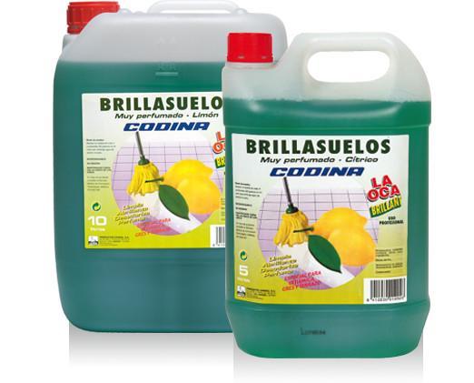 Brillasuelos perfumado. Agradable aroma cítrico