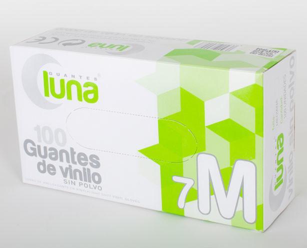 Guante de vinilo sin polvo. Guantes para alimentación y hostelería
