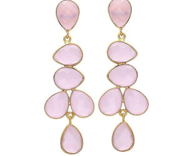 Narciso rosa. Diseño de cuarzo rosa y oro de 24k