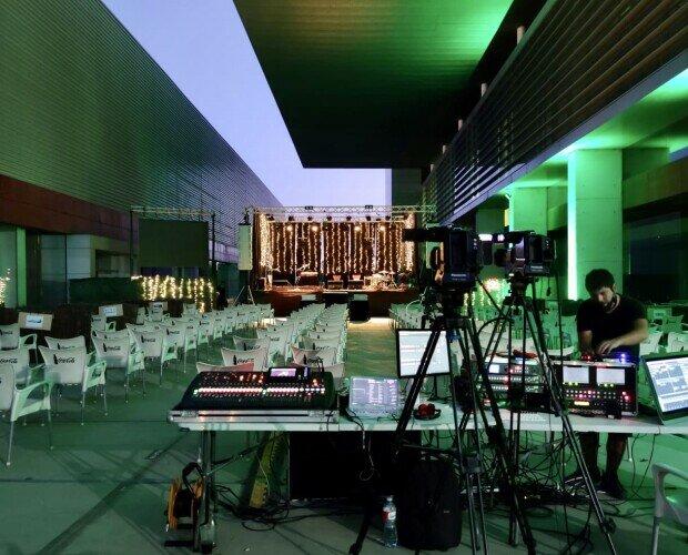 Streaming de Concierto musical. En este evento nos encargamos de la realización de video local y además, streaming.