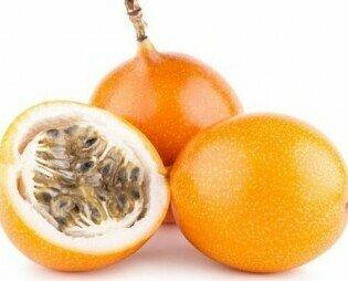 Granadilla. Fuente de vitamina B1, B2, C y la provitamina A. y carbohidratos. Sabor dulce