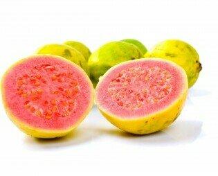 Guayaba. Alto contenido de vitamina C, minerales, disminuye el colesterol malo, sabor dulce