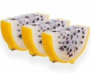 Pitahaya Amarilla Colombiana. Conocida como fruta del Dragon, muy de moda entre los amantes de la comida healthy.