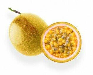 Maracuyá o fruta de la pasión. Perfecto par recuperar energía tras un esfuerzo, provitamina A vitamina C y minerales