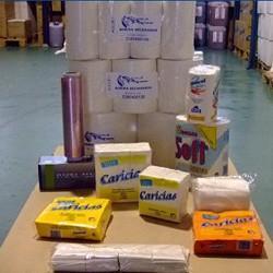 Consumibles y productos de limpieza. Papel higiénico, desinfectante