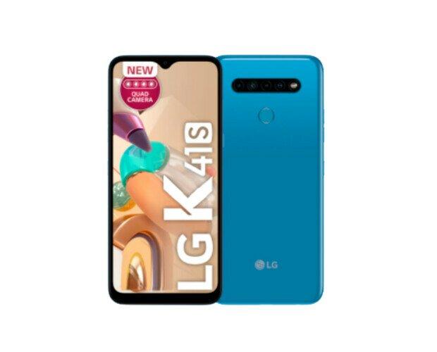 LG K41S. Es muy bonito, su pantalla aprovecha prácticamente todo el frontal