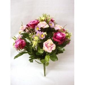 Decoración.Ramo bouquet rosas violetas