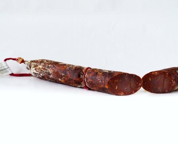 Chorizo Lomo. Es un chorizo exquisito y muy apropiado para comer a tapas o tacos.
