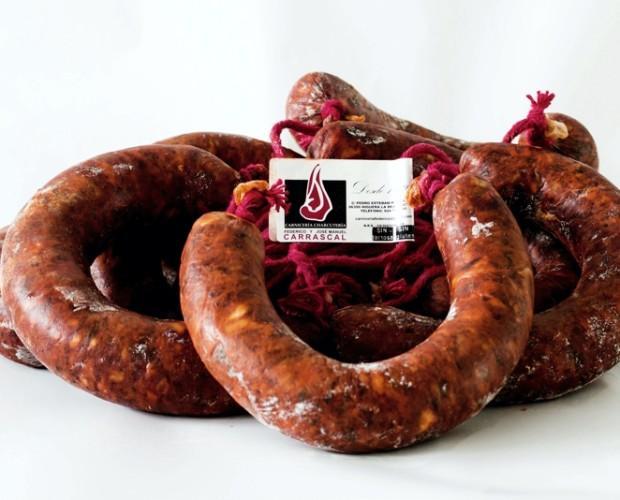 Chorizo de Herradura Picante. Ideal para cocinar, freír o utilizar en barbacoa.