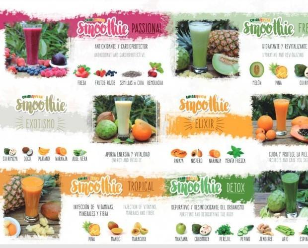 Smoothies Nutricional. Elaborados con fruta natural, sin conservantes ni colorantes.