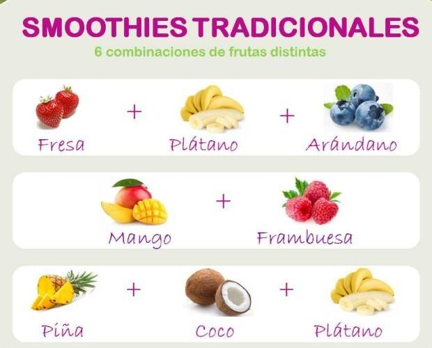 Smoothie Tradicional. Elaborados con la mezcla de las mejores frutas