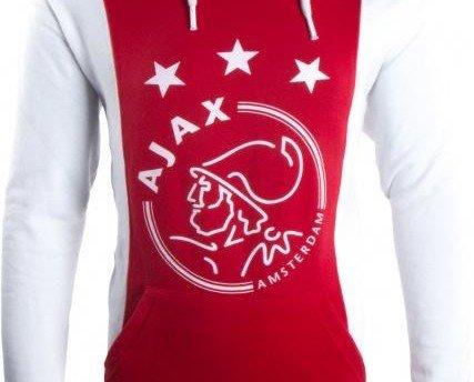 Camisetas Estampadas de Hombre.Sudadera Ajax con capucha roja