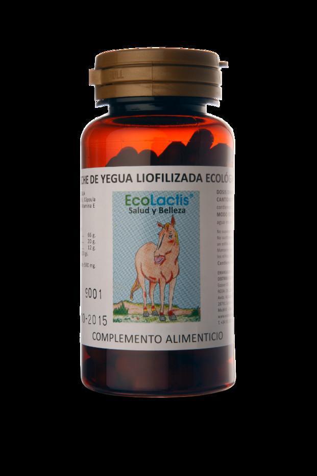 EcoLactis 90 caps. Complemento alimenticio leche de yegua ecologica