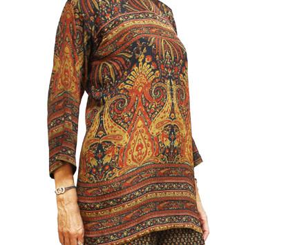 Blusón. Blusones, vestidos y pantalones de semi seda