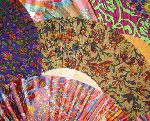 Abanicos. Abanicos y complementos de seda julunggul