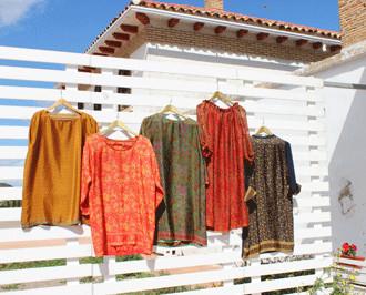 Vestidos de seda. Vestidos,blusones de seda Julunggul. Hecho España