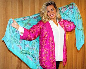 Chaquetas de seda. Chaquetas,vestidos, blusones de seda hecho en España