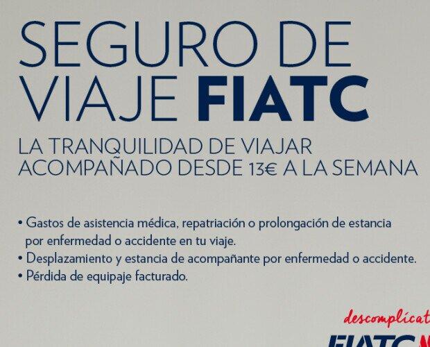 Seguro de viajes. El Seguro de viaje de FIATC, una opción excelente que te garantiza la tranquilidad.