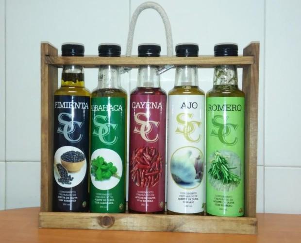 Aceite de oliva de sabores. Variedad de aceite de oliva