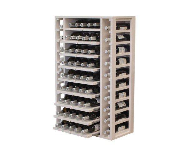 Botellero con estantes extraibles. En madera de Pino o Roble. Se entrega montado