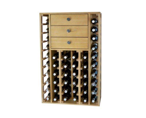 Botellero con 3 cajones arriba. Es espectacular ya que ofrece calidad, elegancia y garantiza durabilidad.