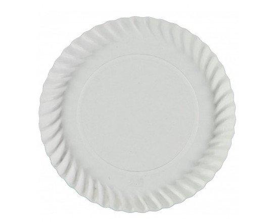 Plato borde ondulado. Material apto para el contacto directo con alimentos secos.