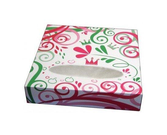 Caja de roscón de Reyes. Cartón blanco 450 gr/m²